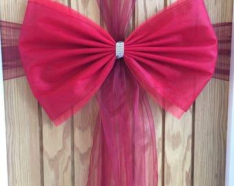 Giant Luxury Red Door Bow