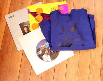 "Buzzcocks Orgasm Addict sweatshirt . unisex blue purple vintage sweatshirt . vtg raglan sweatshirt . APPROX size large xl . 47"" chest"
