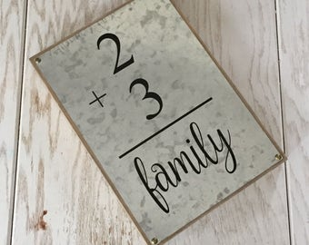 Family Number Flash Card Personalized Family Sign Gallery Wall Art Fixer Upper pregnancy announcement Farmhouse Personalized Housewarming