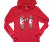 otters hooded tshirt, christmas sweater, otter hoodie, longsleeve shirt, beer sweatshirt, unisex hoodie, megan lee designs, free ship