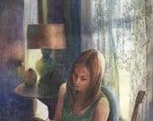 Original Watercolor Art G...