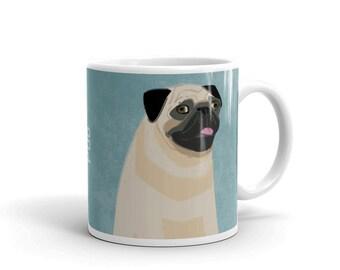 Dog Coffee Mug- Husband Gift- Pug Mug- Dog Mug- Dog Gift- for Dog Lover Gift for Him