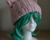 Pussyhat Pink Cat Hat crochet