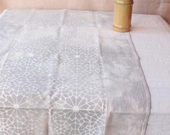 silver penrose tile batik towel