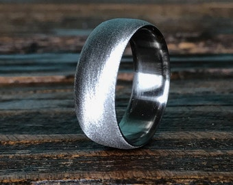 Titanium Ring, Wedding Ring, Custom Made Ring, Mens Ring, Womens Ring, Textured Ring, Handmade Ring, Wedding Band, Personalized Ring