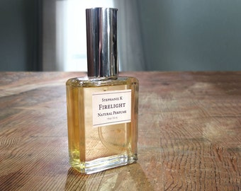 Firelight Natural Perfume Oil - soft woody spicey smoky perfume for women or fragrance for men