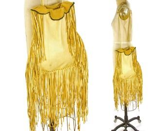 Fringed Buckskin Purse / Vintage Handmade Deer Hide Drawstring Bag / Native American Medicine Bag / Western Hippie Boho SOFT Leather Pouch