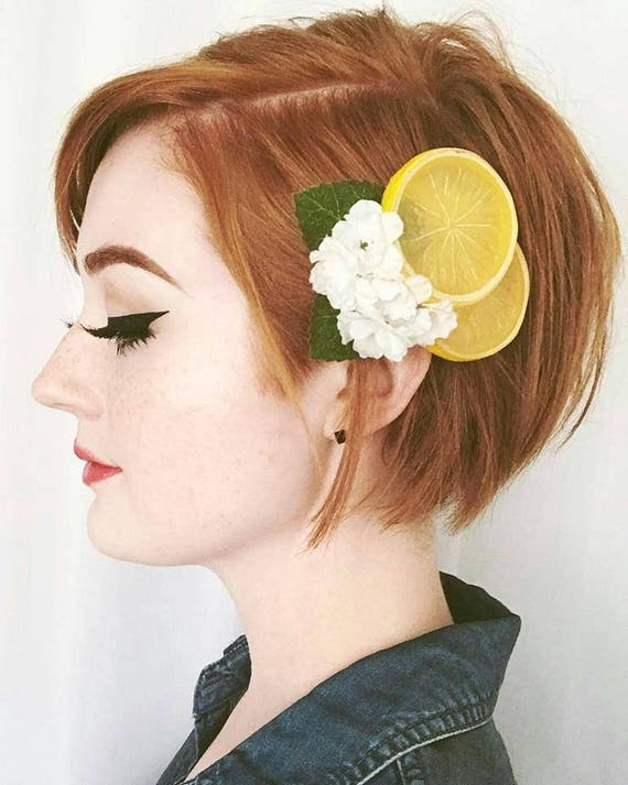 Vintage Hair Accessories: Combs, Headbands, Flowers, Scarf, Wigs Lemon Blosson Fascinator Lemon Slices Hair Clip Fruit Hair Clip Lemon Hair Clip Retro hair ClipLemon Blosson Fascinator Lemon Slices Hair Clip Fruit Hair Clip Lemon Hair Clip Retro hair Clip $15.00 AT vintagedancer.com