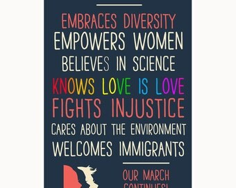 This Home Embraces Diversity (Our March Continues!) Window Poster - DIGITAL DOWNLOAD