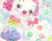 Mister Bubbles - 6x9 original watercolor