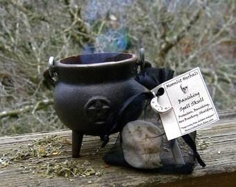 Banishing Spell Skull - Protection, Banishing, Deflecting Negative Energies, Hex Breaking, Shielding, Warding, Pagan Offering Stone, Wicca