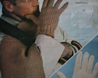 Knitting Patterns Gloves Scarf Men Lister N1740
