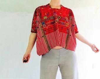 Vintage Colotenango Hand-woven Guatemalan Huipil. Very Fine Example. Boho Tribal Beauty