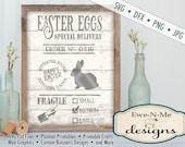 Easter Egg SVG - Easter Bunny svg - Easter SVG - farmhouse easter cut file - easter egg delivery svg - Commercial Use svg, dfx, png, jpg
