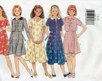 Butterick 4362 Girls Jacket & Dress Size 7-8-10 Uncut Pattern Copyright 1996