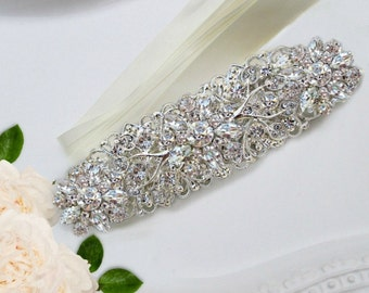 Crystal belt wedding sash bridal dress sash rhinestone belt silver accessories bridal rhinestone ribbon wedding dress belt