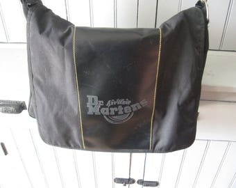 1995 Doc Dr Martins Air Wair Messenger Bag Vinyl Inset with Yellow Stitching
