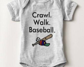 Baseball Baby Bodysuit Boy Girl Newborn Infant Shower Gift