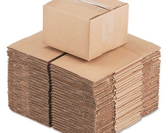 """25 Pack 6x6x4 SHIPPING BOXES Corrugated Cardboard only 20 cents each Made in USA Destash 200# 6""""x6""""x4"""" Mail Mailing Mailer"""