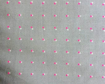 Cotton + Steel Black and White 2017 Double Dots Neon Pink 100% Cotton Fabric