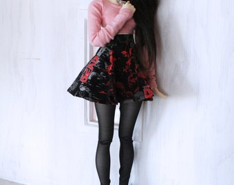 BJD Doll clothes MSD Doll clothes Dusty Rose long sleeve Crop Top for Minfee MonstroDesigns