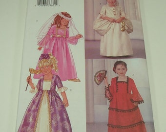 Butterick Children's/Girls'Costume Pattern 3266 Size 2 - 3 - 4 - 5 Full Length Dress Victorian Princess