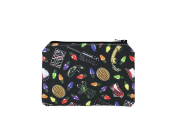 CHOOSE SIZE Stranger Things Zipper Pouch / Eleven Nancy Max Billy / Make Up or Coin Pouch
