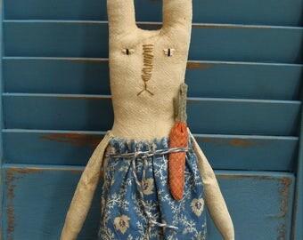 Primitive Springtime Easter Bunny Rabbit Doll