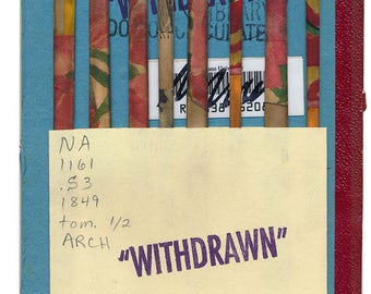 """Original Collage - On the Inside of a """"WITHDRAWN"""" Library Book - Number 6"""