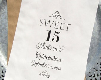 Quinceanera Favor Bags | Quinceanera Party Favors | Quinceanera Party | Quinceanera Candy Buffet | Quinceanera Candy Bags
