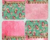 PINK and SHABBY CHIC -  Printable Digital Collage Sheet - Digital Download - Wedding Printable - Journal - Scrapbook