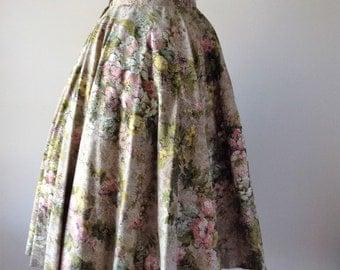McArthur ltd circle skirt | vintage 1950s skirt | floral 50s skirt
