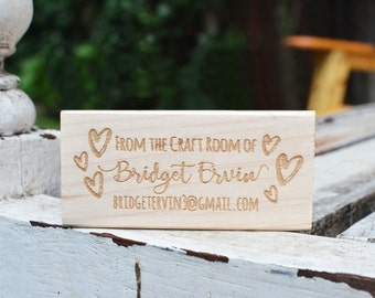 Custom Shop Stamp - Custom Stamp - Customized Stamp - Personalized - Hearts - Name Stamp
