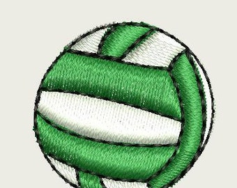 Volleyball embroidery logo for monograms applique digital file