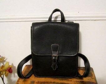 GAP Backpack Black Color Pebbled Leather Backpack
