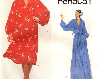 1970s Vogue 1823 Vintage Sewing Pattern Misses French Boutique Dress, Gown Size 10 Bust 32-1/2