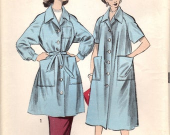 1950s Advance 7977 UNCUT Vintage Sewing Pattern Misses Smock, Duster, Housecoat Size Small, Size Medium