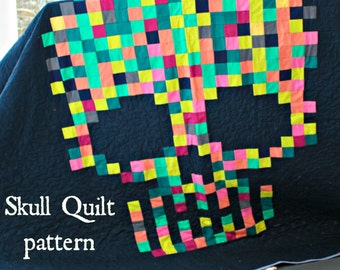 Sugar Skull Quilt PDF pattern download