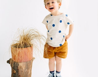 Organic cotton Top blue spots