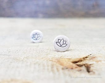 Lotus Blossom Stud Earrings