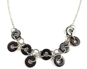Black Statement Necklace Hardware Jewelry Industrial eco friendly