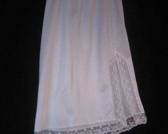 Vintage Nylon White Half Slip by Fortune