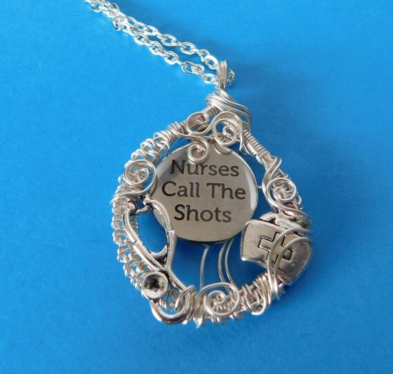 Nurse Jewelry Graduation Gift, Necklace for Nurse Graduation Gift, Registered Nurse Necklace Gift, Nurses Call the Shots Necklace