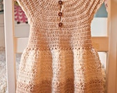 Crochet dress PATTERN - Darling Dress (baby, toddler, child sizes),