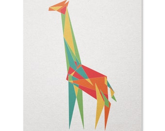 Geometric Giraffe Print / Animal Print / Cool Geometric Print / Animal Wall Art / Safari Print / Home Decor / 8 x 10