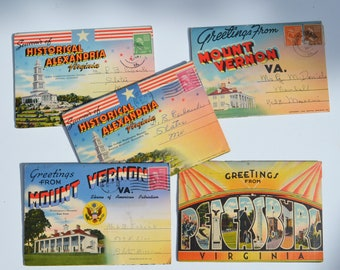 Lot of Vintage Virginia Souvenir Accordian Postcards
