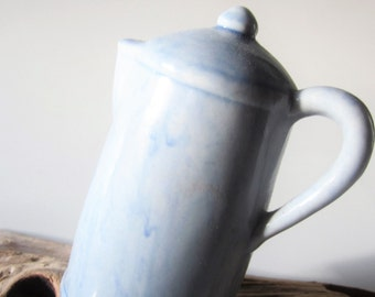 Vintage Porcelain Bisque Bell Jasco Collectible Coffee Pot Pitcher