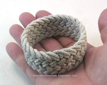 weathered rope herringbone weave rope bracelet knotted bracelet rope jewelry 3712