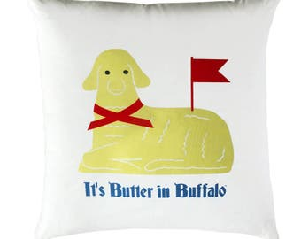 buffalo ny, easter buffalo ny pillow, buffalo new york butter lamb, polish easter, it's butter in buffalo,  home decor, buffalo ny gift,