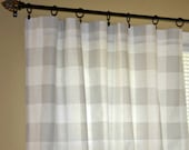 """Reserved for Courtney - One Pair of 25""""W x 29.5""""L Curtain Panels in French Grey Buffalo Check - Premier Prints Anderson"""
